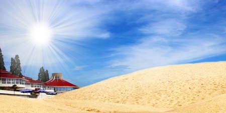 desert under blue sky Stock Photo - 4330675