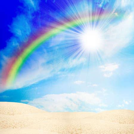 desert under blue sky Stock Photo - 4330671