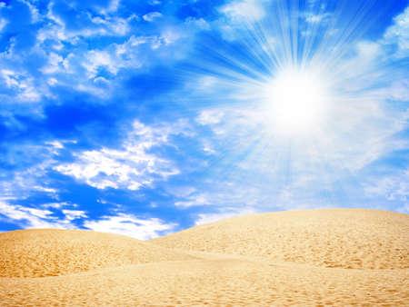 desert under blue sky Stock Photo - 4330677