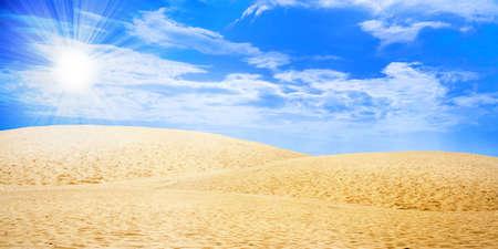desert under blue sky Stock Photo - 4330676
