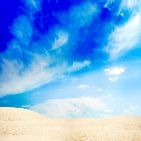scene with desert under sky photo