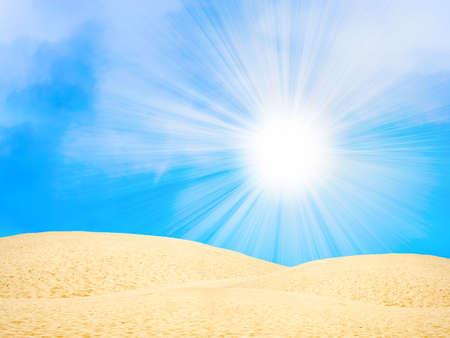 abstract scene with sun desert Stock Photo - 4357763