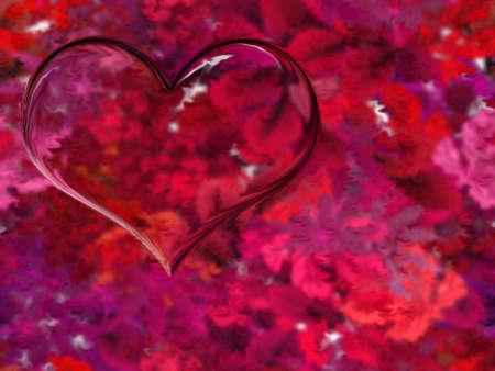 abstract scene heart on varicoloured background photo