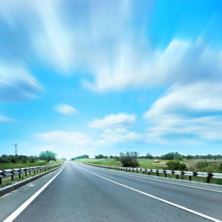 abstract scene of the road under blue sky Stock Photo - 4456387