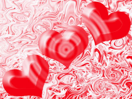 abstract scene heart on varicoloured background photo