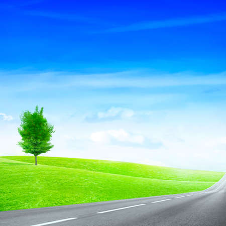 abstract scene of the road under blue sky Stock Photo - 4456545