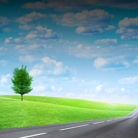 abstract scene of the road under blue sky Stock Photo - 4456544