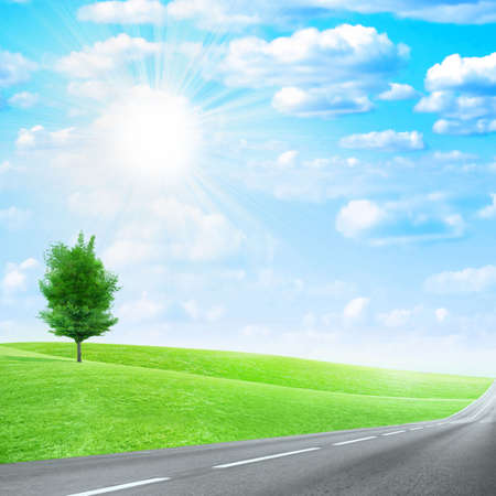 abstract scene of the road under blue sky Stock Photo - 4456562