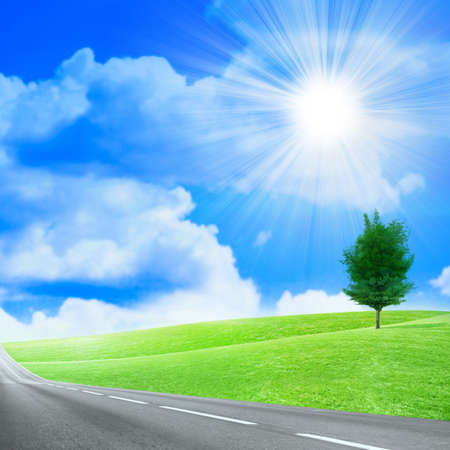 abstract scene of the road under blue sky Stock Photo - 4456564
