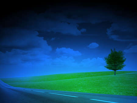 abstract scene of the road under blue sky Stock Photo - 4456427