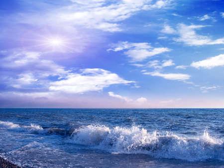 sky and sea Фото со стока
