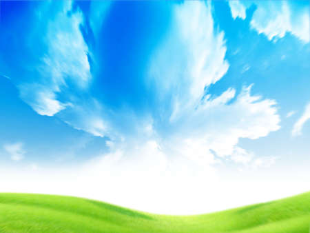 lite: beautiful year landscape with solar sky