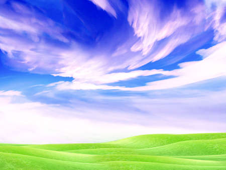 beautiful year landscape with solar sky Stock Photo - 4479822