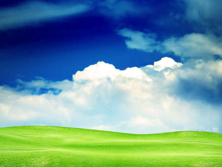 beautiful year landscape with solar sky Stock Photo - 4479874