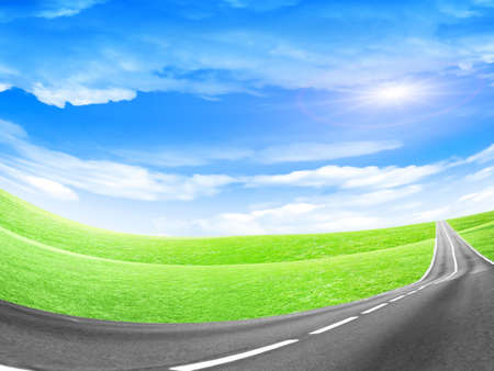 abstract landscape with road and blue sky Stock Photo - 4479899