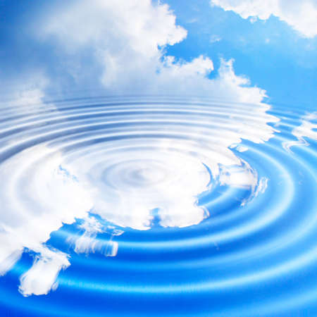 abstract reflection blue sky in water surface Stock Photo - 4516332