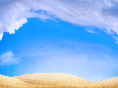 abstract scene desert under blue sky Stock Photo - 4519023