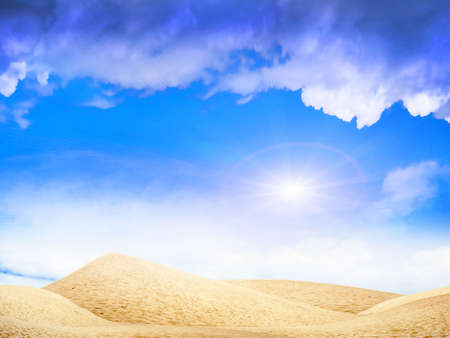abstract desert under blue sky