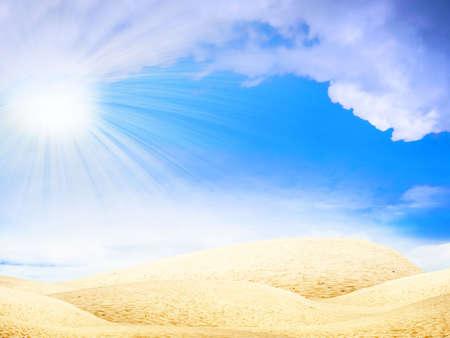 Astratto deserto sotto il cielo blu Archivio Fotografico - 4516468