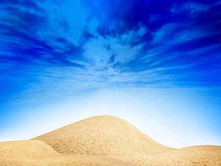 abstract desert under blue sky Stock Photo - 4516405