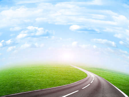 abstract route under blue sky Stock Photo - 4516471