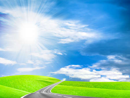 abstract route under blue sky Stock Photo - 4516499