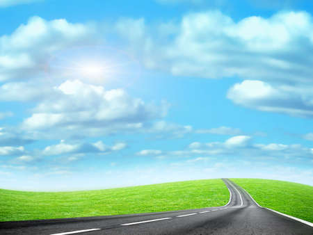 abstract route under blue sky Stock Photo - 4516490