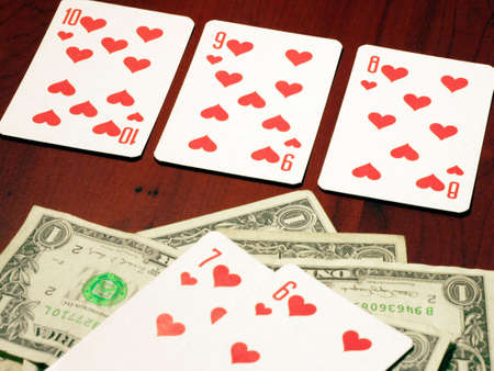poker and dollars photo