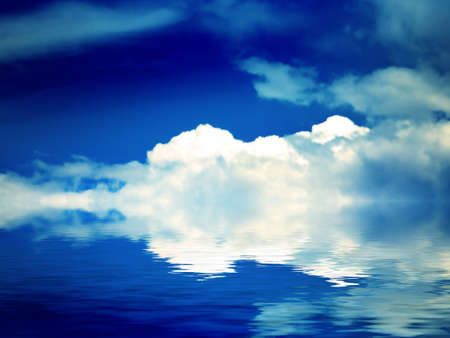 abstract reflection in water solar sky photo