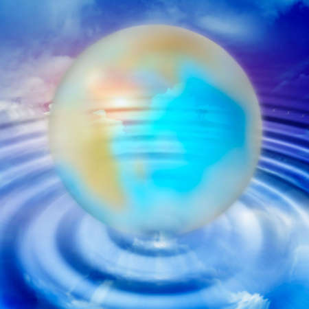 abstract planet and solar sky Stock Photo - 4565179
