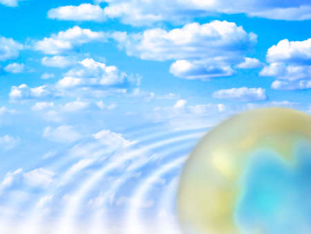 abstract planet and solar sky Stock Photo - 4565180