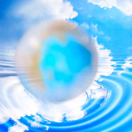 abstract planet and solar sky Stock Photo - 4565191