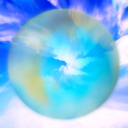 abstract planet and solar sky Stock Photo - 4565178