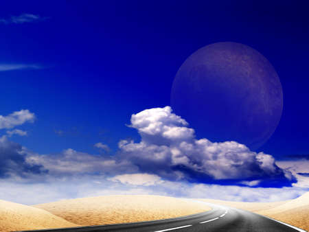 abstract route in desert Stock Photo - 4634427