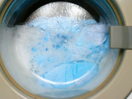 laundry of the linen in automatic machine