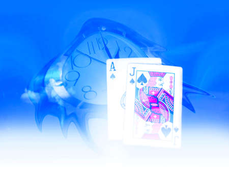 abstract scene poker and time to lifes