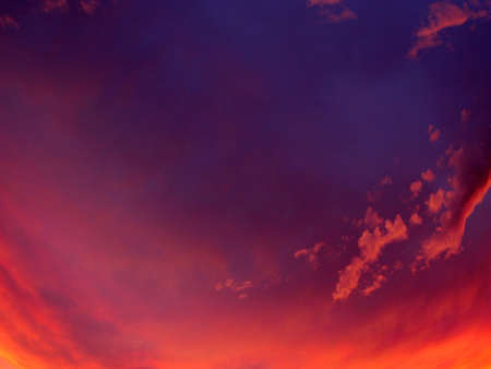 displacement: red sky Stock Photo
