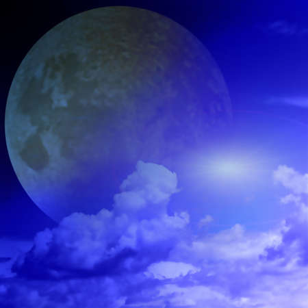 lea: sky and moon