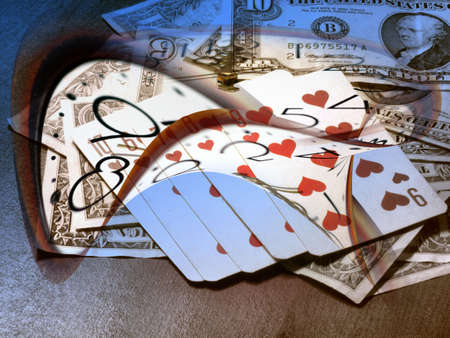 dollars,poker and time photo