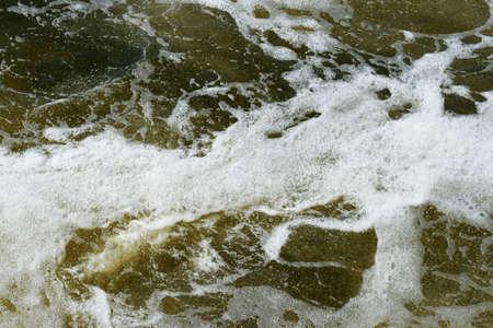 tempestuous flow water Stock Photo