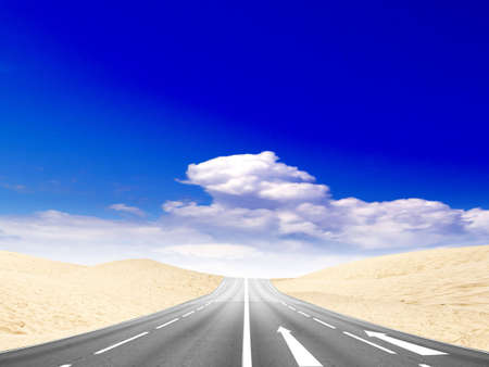 sectoring: road in desert