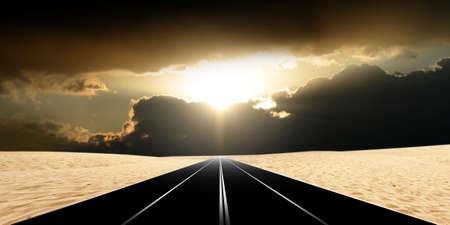 rural roads: route in desert