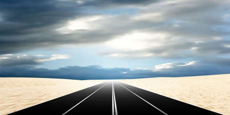 route in desert