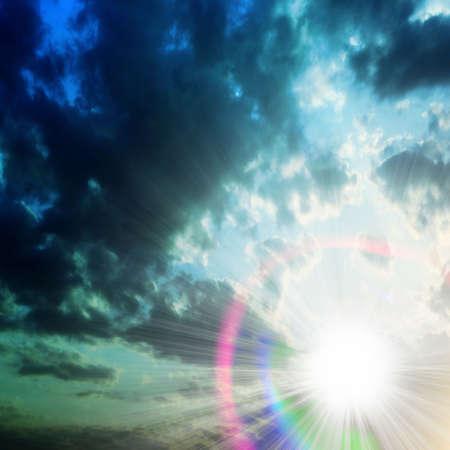 displacement: phosphorescence sun on evening sky