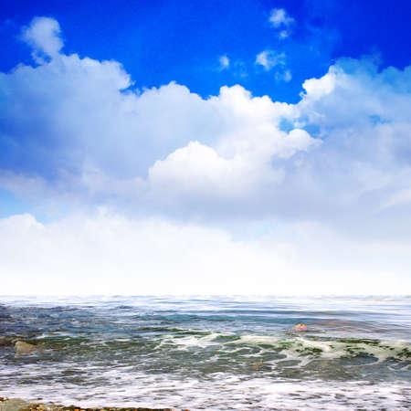 health resort: sea waves Stock Photo