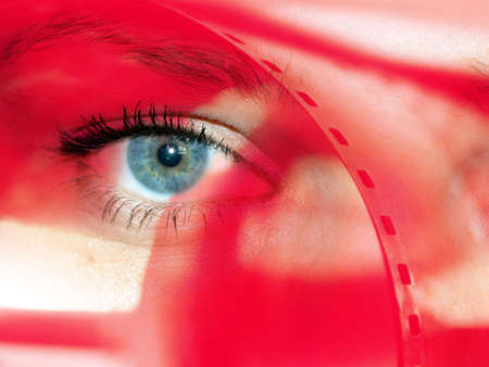 glance: abstract scene with feminine glance