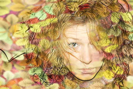 abstract portrait making look younger pretty woman photo