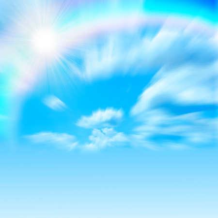 rainbow on the sky photo