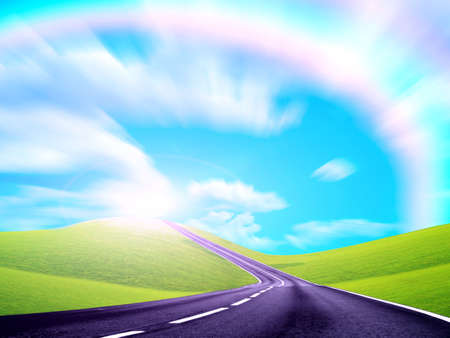 rainbow on the route photo
