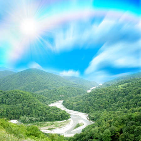 Mountain rainbow photo